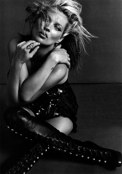 Kate moss black white