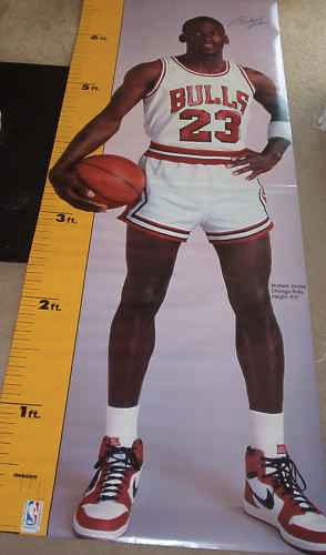 Printable Design life size michael jordan poster : 1987 Michael Jordan Life-Size Height Measuring Poster