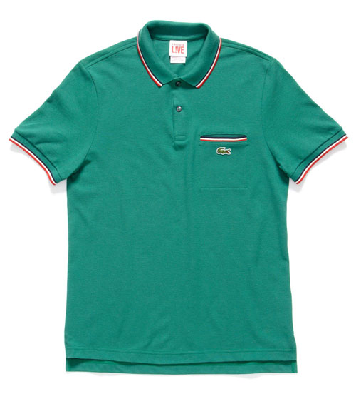 Lacoste short sleeve tipped pique polo with pocket for Short sleeve polo shirt with pocket