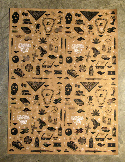 The hardest gift wrap on the market - Gangster Wrap!