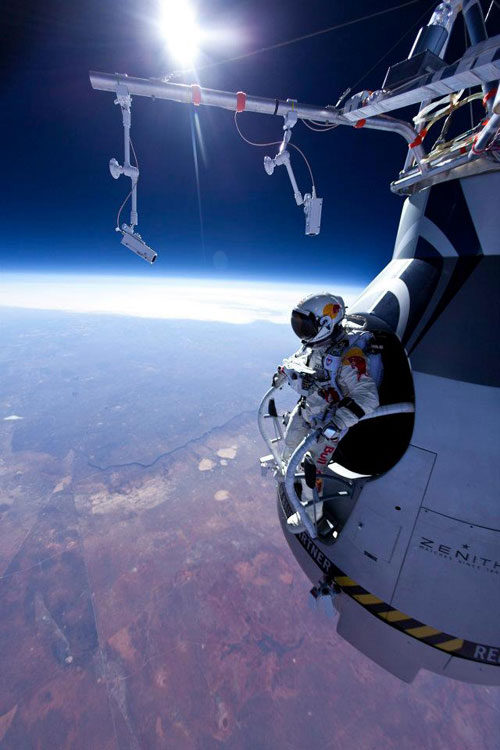 skydiving from the stratosphere