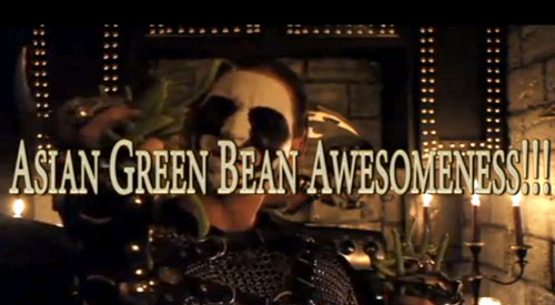 black-metal-chef-green-beans
