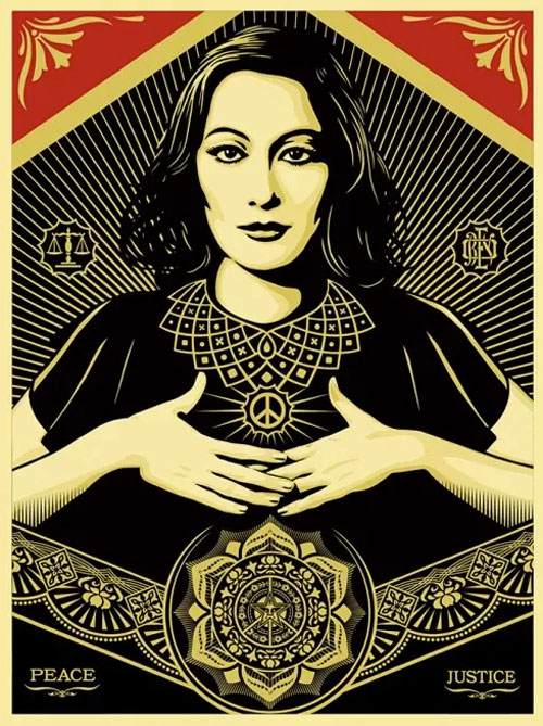 shepard-fairey-peace-justice-woman