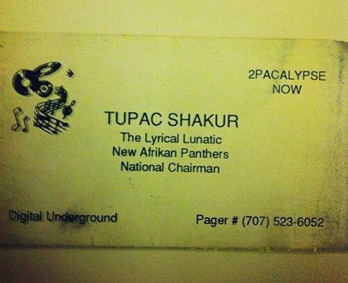 tupacs-first-business-card