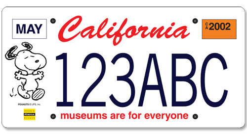 california-snoopy-plate