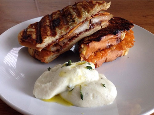Stewtella-&-Pear-Panini-with-whipped-honey-thyme-ricotta