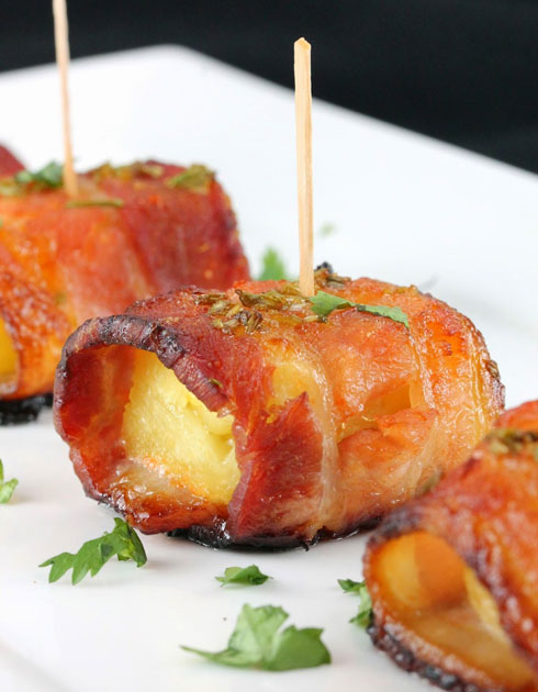 Sriracha-Honey-Glazed-Bacon-Wrapped-Pineapple