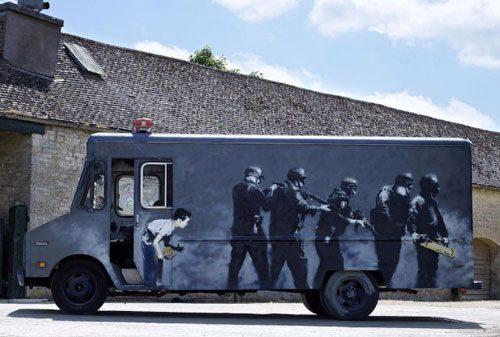 banksy-swat-van