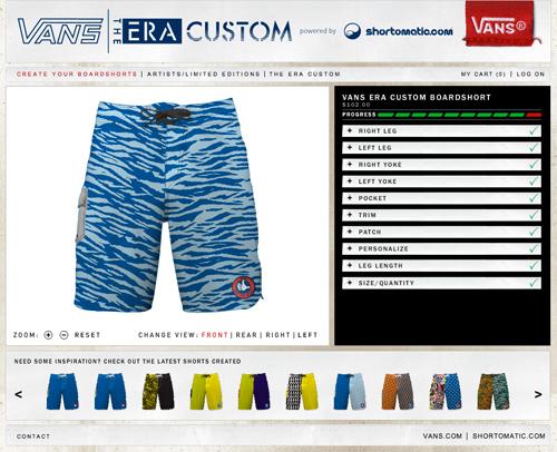 Custom Vans Era Boardshorts
