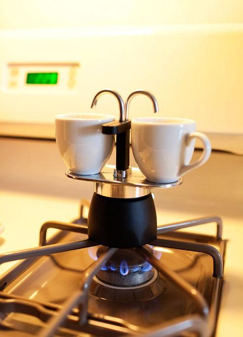 Double Spout Stovetop Espresso Maker