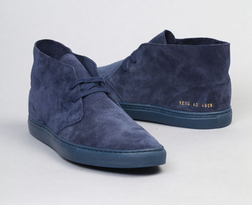 factory authentic look good shoes sale cheap prices Common Projects Blue Suede Chukka Boot